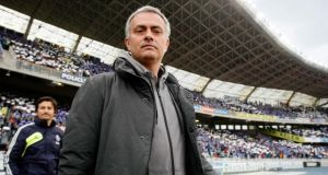 Real Madrid coach Jose Mourinho ahead  of Sunday's game against Real Sociedad at Anoeta stadium in San Sebastian. Photograph: Joseba Etxaburu/Reuters