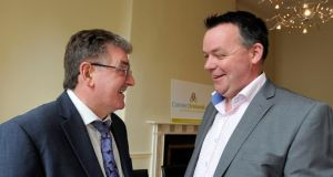 Hugh Morris (pictured with Brian Dougan, director Mafic SA, on left) an auctioneer from Co Meath, received €105,000.