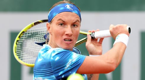 Again it's Svetlana Kuznetsova of Russia. She doesn't mess about. Photograph: Matthew Stockman/Getty Images