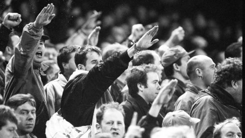 More offensive saluting. Photograph: Frank Miller/The Irish Times