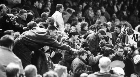 A section of the crowd. The game was heavily attended. Photograph: Frank Miller/The Irish Times