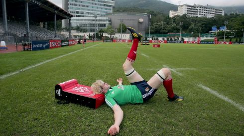 Richie Gray tests the ground. Photograph: Dan Sheridan/Inpho