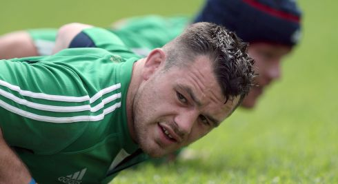 Cian Healy works up a sweat. Photograph: Dan Sheridan/Inpho