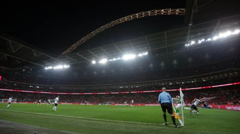 How Wembley looked and felt on the night. Photograph: Donall Farmer/Inpho