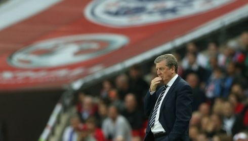 England manager Roy Hodgson looking thoughtful. Photograph: Scott Heavey/Getty Images