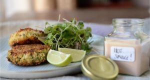 Zingy crab cakes