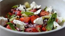 Strawberry and goat's cheese