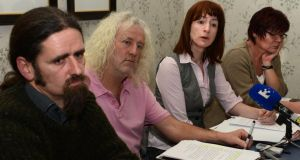 TDs  Luke 'Ming' Flanagan, Mick Wallace, Clare Daly and Joan Collins are calling for an independent report into the cancellation of penalty points by gardaí. Photograph: Cyril Byrne /The Irish Times