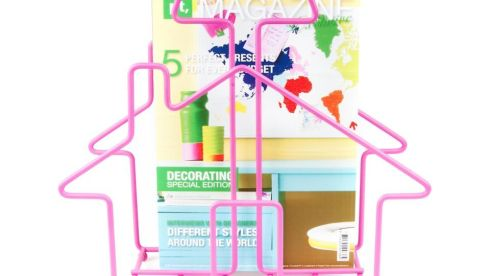 Keep clutter to a minimum with this house-shaped magazine rack (35 cm by 15cm). Made of powder-coated metal, it comes in pink or silver and is reduced from €39.95 to €27.96 as part of the summer sale at Mira Mira (01-2196668, miramira.ie) in Sandymount, Dublin 4. Sale ends June 2