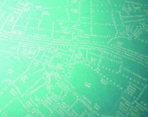There are still a couple of weeks to send fans of James Joyce's Ulysses this homage to the wanderings of Leopold Bloom. Rachel Kerr's typographic map notes the landmarks that were in existence on June 16th, 1904. The foil design of the city centre, 24cm sq, is printed on 700gm turquoise board, inspired by the cover of the first edition of the tome. It costs €60 from leopoldsday.com (plus 5.90 P&P both nationally and internationally). And speaking of blooms, Bloom in the Park starts today and runs until June 3rd. Tickets for adults cost €20 and children go free; bloominthepark.com.