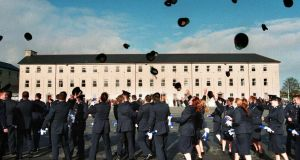"Gardaí at a graduation ceremoney at the Garda college in Templemore. ""An Irish person who dons a uniform – far from representing the community, becomes somehow alien to it."" Photograph: David Sleator"