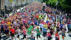 Participants in last year's women's mini-marathon making their way from Fitzwilliam Square in Dublin at the start of the 10km run. Photograph: Eric Luke