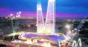 An impression of the Eurovagas gambling complex proposed for the Spanish town of Alcorcón, just outside Madrid. American casino magnate Sheldon Adelson is behind the project, which would include six casinos and 12 hotels.