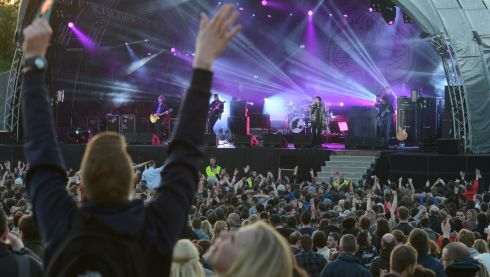 Kasabian playing  at the  Forbidden Fruit  festival at the Royal Hospital Kilmainham at the weekend. Photograph: Cyril Byrne / THE IRISH TIMES
