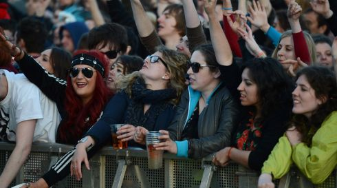Fans enjoying the Forbidden Fruit  festival at the Royal Hospital Kilmainham at the weekend. Photograph: Cyril Byrne / THE IRISH TIMES