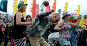 Fans enjoying the Forbidden Fruit festival at the Royal Hospital Kilmainham at the weekend. Photograph: Cyril Byrne /Irish Times