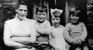 Jean McConville with three of her children in 1972, shortly before she was abducted and murdered by the IRA. Photograph: Pacemaker
