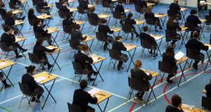 The numbers signing on for higher maths has increased by 2,129 on last year to more than 14,500. Photograph: Dara MacDónaill