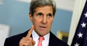 The US is awaiting all official UN translations of the UN Arms Trade Treaty before signing it, US secretary of state John Kerry has said in a statement. Photograph: Yuri Gripas/Reuters