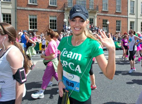 Rosanna Davison smiles after completing the race. Photograph: Inpho/Morgan Treacy