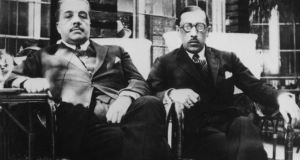 Composer Igor Stravinsky  (right) and impresario Sergei Diaghilev in Seville during their Ballets Russes collaboration. Photograph:  Hulton Archive/Getty Images