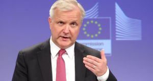 European commissioner for economic and monetary affairs Olli Rehn from Finland.  Photograph: Yves Logghe/AP