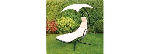 This cushioned C-frame steel hammock lounger with overhead shade (140cm by 100cm by 200cm) is reduced from €299.99 to €144.99 at Home Store and More (01-4276500 homestoreandmore.ie). Also reduced is a cast-iron chimenea (39cm by 89cm) that burns wood or charcoal, down from €89.99 to €44.99. A Master Cook Classic 500 five-burner, stainless steel gas barbecue with cast-iron cooking grate is half price at €212.49.