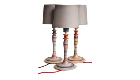 THREE OF THE BEST ARTS AND CRAFTS FOR THE HOME: Sarah Lock Lighting (sarahlock.com) in Brighton has decorative wooden lamps that work in a period or a modern setting. Each lamp is individually turned and painted to create unique lighting. Prices range from £130 (about €152) to £220 (about €257), and linen shades cost from £22 -£35. Postage to Ireland costs £15.