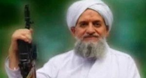 In a 22-minute recording posted on Islamist websites today to mark 65 years since Israel's founding, al-Qaeda leader Ayman al-Zawahiri  said the only way to solve the Palestinian problem was through jihad, or Islamic holy war. Photograph: Reuters