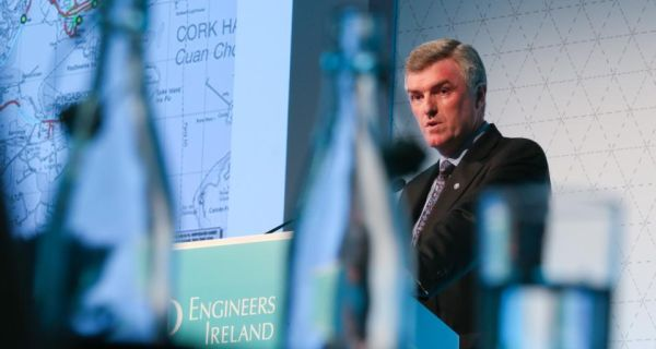 Pictured speaking at the 2013 Engineers Ireland Annual Conference was John Tierney, chief executive of Irish Water. Photograph: Maxwells