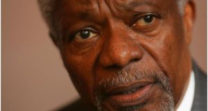 "Kofi Annan : ""Rebuilding Syria and taming the region is in everyone's interest."" Photograph: Bryan O'Brien"