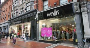Wallis and River Island buildings: 103/104 Grafton Street, Dublin 2. Sold: €40million Previously: €115million