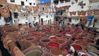 A traditional leather tannery in Fez, Morocco, where hides are dyed using an environmentally-unfriendly  process. Photograph: Gavin Heller/Robert Hardy World Imagery