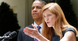 Samantha Power has been nominated by US president Barack Obama to be the new US ambassador to the UN. Photograph: Jason Reed/Reuters