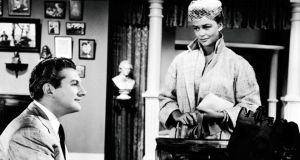 Liberace with Dorothy Malone in Sincerely Yours. In 1956 the star sued the Daily Mirror for implying he was gay.