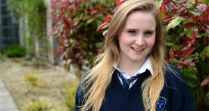 Sarah Keane, is a Leaving Certificate student at Dunshaughlin Community College, Co Meath. Photograph: Dara Mac Dónaill
