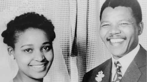Winnie and Nelson Mandela on their wedding day, June 14th, 1958.