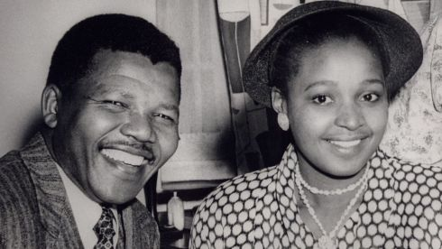 Undated file photograph of Nelson Mandela and his wife Winnie.  Photograph: International Defence and Aid Fund/Reuters