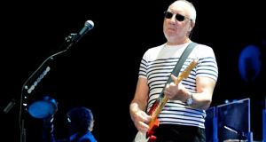Pete Townshend at The Who's performance at the O2 in Dublin. Photograph: Patrick O'Leary