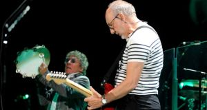 Roger Daltrey (left) and Pete Townshend at The Who's performance at the O2 in Dublin. Photograph: Patrick O'Leary