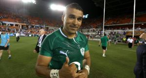 Simon Zebo after the game at the BBVA Stadium in Houston, Texas.