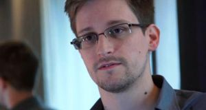 Edward Snowden, a former CIA technical assistant who was working at the NSA as an employee of defence contractor Booz Allen Hamilton, is in a hotel in Hong Kong after leaving the United States with secret documents, according to the Guardian. Photograph: Reuters/Ewen MacAskill/The Guardian/