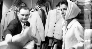 Princess Lee Radziwill, Jackie Kennedy's sister, shopping in Shannon