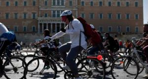 """Of course cycling should be encouraged and protected and made central to all plans for sustainable transport."" Photograph: Reuters"