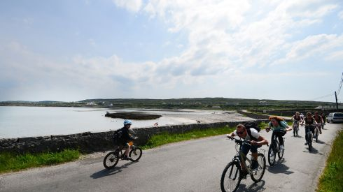 Lovely weather in Kilronan Inis Mor . Photograph: Bryan O'Brien / The Irish Times