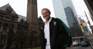 New Ireland head coach Joe Schmidt pictured in Toronto. Photograph:  Billy Stickland/Inpho