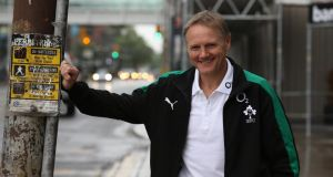 Joe Schmidt in Toronto:  the new Ireland head coach is working behind the scenes to secure a forwards and kicking  coach. Photograph: Billy Stickland/Inpho