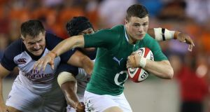 Robbie Henshaw:  hopes to resume training on Thursday. Photograph: Billy Stickland/Inpho
