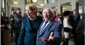 President Michael D Higgins: shared some concern about the direction Irish universities were taking. Photograph: Brenda Fitzsimons /Irish Times