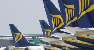 With strikes beginning today, a total of 102 Ryanair flights will be cancelled. Photograph: Alan Betson/The Irish TImes